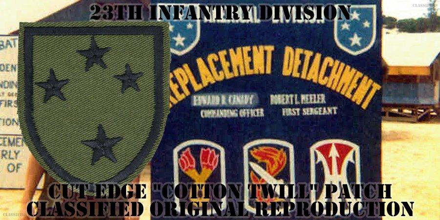 第23歩兵師団(23rd Infantry Division)[サブデュード/カットエッジ/コットンツイル/パッチ/レプリカ]