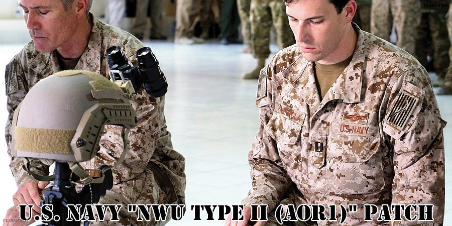 アメリカ海軍NWU(TYPE2)AOR1パッチ