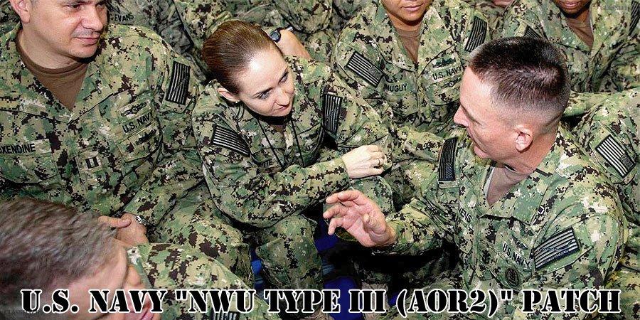 アメリカ海軍NWU(TYPE3)AOR2パッチ