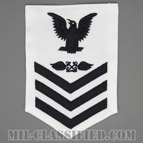 一等兵曹(二等兵曹・三等兵曹共通)航空運用員(航空掌帆)(Aviation Boatswain's Mate (AB))[ホワイト/Male(男性用)/腕章(Rating Badge)階級章]画像