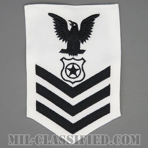 一等兵曹(二等兵曹・三等兵曹共通)警衛員(憲兵)(Master-At-Arms (MA))[ホワイト/Male(男性用)/腕章(Rating Badge)階級章]画像