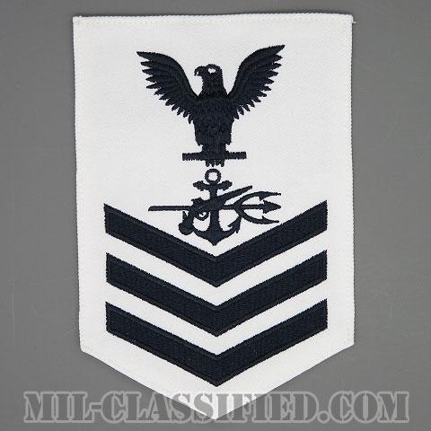 一等兵曹(二等兵曹・三等兵曹共通)特殊戦闘員(Special Warfare Operator (SO))[ホワイト/Male(男性用)/腕章(Rating Badge)階級章]画像
