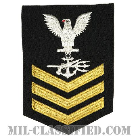 一等兵曹(二・三等兵曹共通) 特殊戦闘員(Special Warfare Operator)[ネイビーブルー(ゴールド)/Male(男性用)/腕章(Rating Badge)階級章]画像