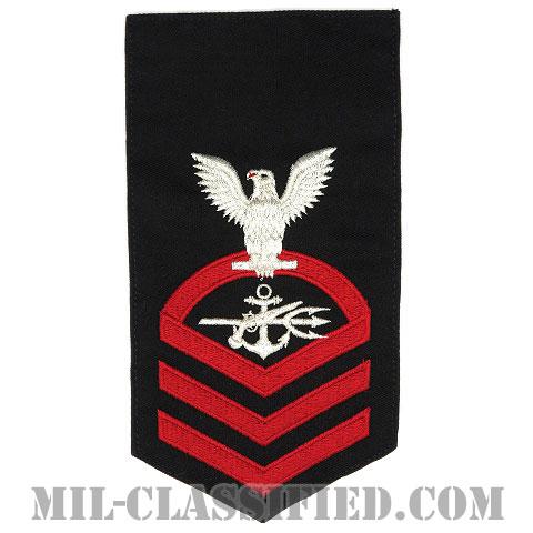 上等兵曹 特殊戦闘員(Special Warfare Operator (SO))[ネイビーブルー(レッド)/Male(男性用)/腕章(Rating Badge)階級章]画像