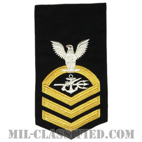 上等兵曹 特殊戦闘員(Special Warfare Operator (SO))[ネイビーブルー(ゴールド)/Male(男性用)/腕章(Rating Badge)階級章]画像