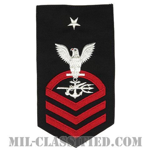 上級上等兵曹 特殊戦闘員(Special Warfare Operator (SO))[ネイビーブルー(レッド)/Male(男性用)/腕章(Rating Badge)階級章]画像