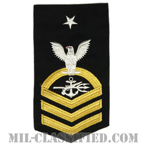 上級上等兵曹 特殊戦闘員(Special Warfare Operator (SO))[ネイビーブルー(ゴールド)/Male(男性用)/腕章(Rating Badge)階級章]画像