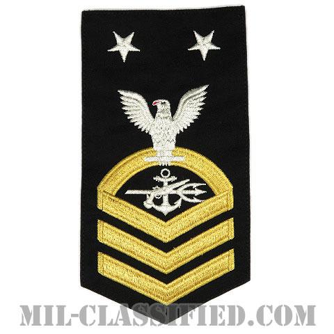 最先任上等兵曹 特殊戦闘員(Special Warfare Operator (SO))[ネイビーブルー(ゴールド)/Male(男性用)/腕章(Rating Badge)階級章]画像