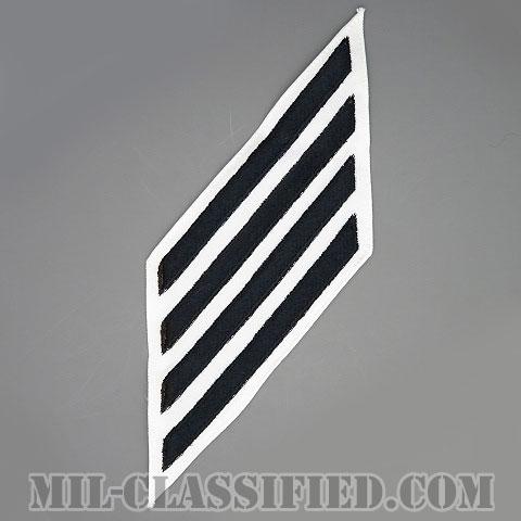 年功章 4連(勤続16年)(Service Stripe, Hash Mark)[ホワイト/海軍サービスストライプ(ハッシュマーク)/男性用(E1-E6)/パッチ]画像