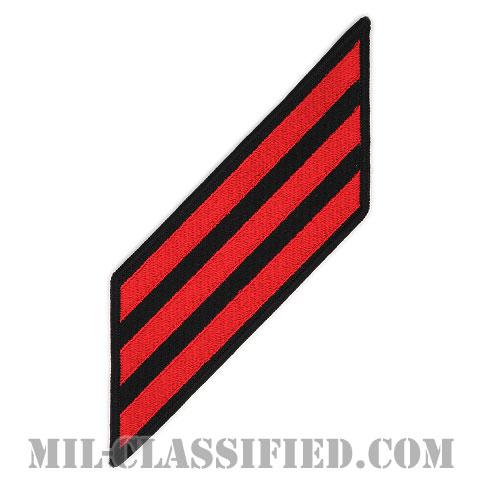 年功章 3連(勤続12年)(Service Stripe, Hash Mark)[ネイビーブルー(レッド)/海軍サービスストライプ(ハッシュマーク)/男性用(E1-E6)/パッチ]画像