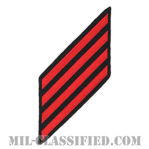 年功章 4連(勤続16年)(Service Stripe, Hash Mark)[ネイビーブルー(レッド)/海軍サービスストライプ(ハッシュマーク)/男性用(E1-E6)/パッチ]画像