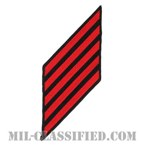 年功章 5連(勤続20年)(Service Stripe, Hash Mark)[ネイビーブルー(レッド)/海軍サービスストライプ(ハッシュマーク)/男性用(E1-E6)/パッチ]画像