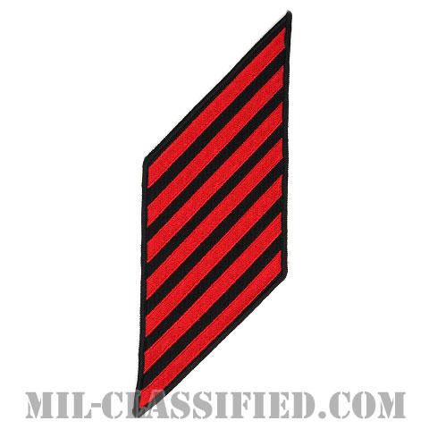 年功章 7連(勤続28年)(Service Stripe, Hash Mark)[ネイビーブルー(レッド)/海軍サービスストライプ(ハッシュマーク)/男性用(E1-E6)/パッチ]画像