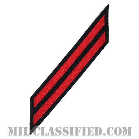 年功章 2連(勤続8年)(Service Stripe, Hash Mark)[ネイビーブルー(レッド)/海軍サービスストライプ(ハッシュマーク)/男性用(E7-E9 CPO)/パッチ]画像