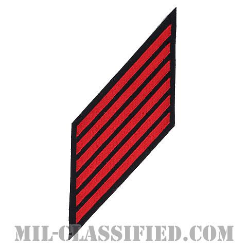 年功章 6連(勤続24年)(Service Stripe, Hash Mark)[ネイビーブルー(レッド)/海軍サービスストライプ(ハッシュマーク)/男性用(E7-E9 CPO)/パッチ]画像