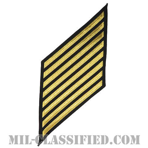 年功章 8連(勤続32年)(Service Stripe, Hash Mark)[ネイビーブルー(ゴールド)/海軍サービスストライプ(ハッシュマーク)/男性用(E7-E9 CPO)/パッチ]画像