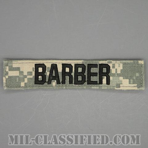 BARBER [UCP(ACU)/ブラック刺繍/ネームテープ/ベルクロ付パッチ/中古1点物]画像