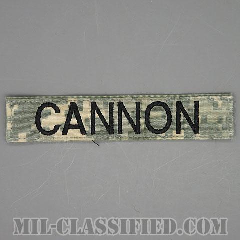 CANNON [UCP(ACU)/ブラック刺繍/ネームテープ/ベルクロ付パッチ/中古1点物]画像