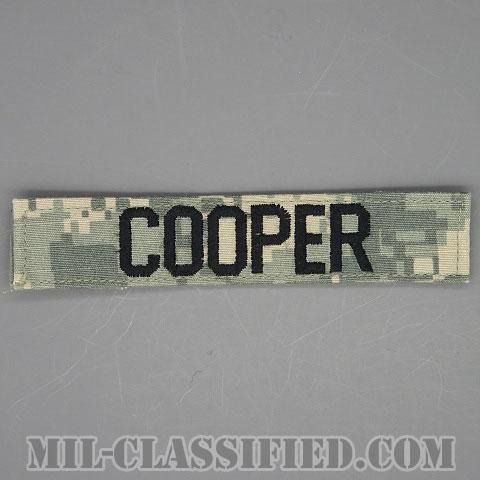 COOPER [UCP(ACU)/ブラック刺繍/ネームテープ/ベルクロ付パッチ/中古1点物]画像
