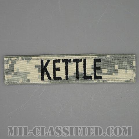 KETTLE [UCP(ACU)/ブラック刺繍/ネームテープ/ベルクロ付パッチ/中古1点物]画像