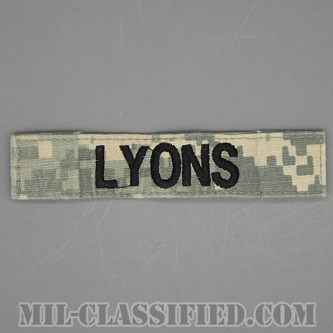 LYONS [UCP(ACU)/ブラック刺繍/ネームテープ/ベルクロ付パッチ/中古1点物]画像