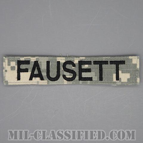 FAUSETT [UCP(ACU)/ブラック刺繍/ネームテープ/ベルクロ付パッチ/中古1点物]画像