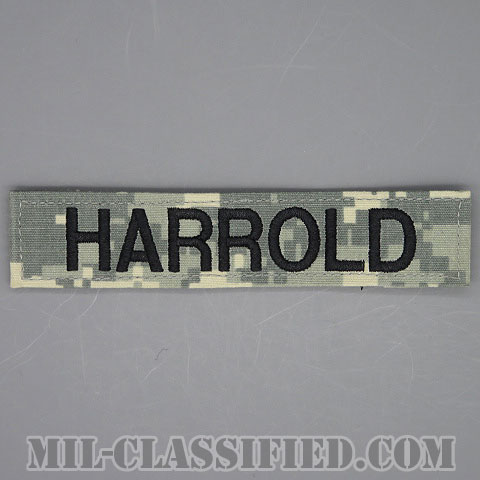 HARROLD [UCP(ACU)/ブラック刺繍/ネームテープ/ベルクロ付パッチ/中古1点物]画像