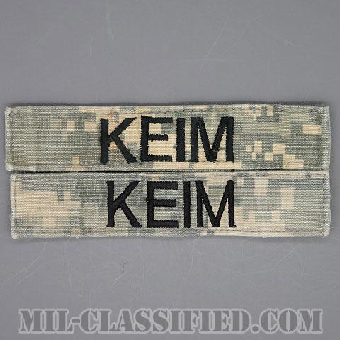 KEIM [UCP(ACU)/ブラック刺繍/ネームテープ/ベルクロ付パッチ/中古1点物(2枚セット)]画像