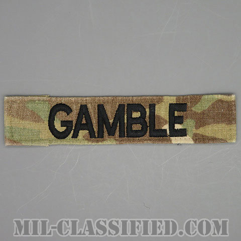 GAMBLE [OCP/ブラック刺繍/ネームテープ/縫い付け用パッチ/中古1点物]画像