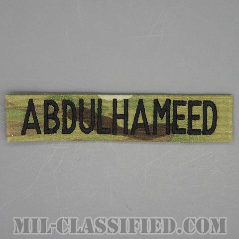 ABDULHAMEED [OCP/ブラック刺繍/ネームテープ/縫い付け用パッチ/中古1点物]画像