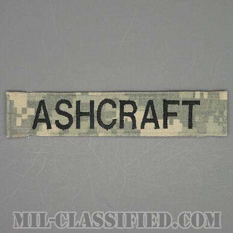 ASHCRAFT [UCP(ACU)/ブラック刺繍/ネームテープ/縫い付け用パッチ/中古1点物]画像