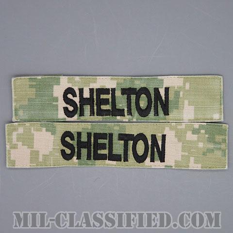 SHELTON [NWU Type3(AOR2)/海軍ネームテープ/生地テープパッチ/中古1点物(2枚セット)]画像