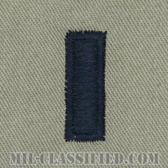 中尉(First Lieutenant (1LT))[ABU/空軍階級章/パッチ/ペア(2枚1組)]の画像