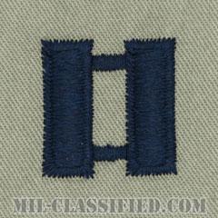 大尉(Captain (CPT))[ABU/空軍階級章/パッチ/ペア(2枚1組)]の画像