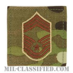 最上級曹長(Chief Master Sergeant)[OCP/空軍階級章/ベルクロ付パッチ]の画像