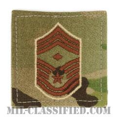 先任最上級曹長(First Sergeant (E-9))[OCP/空軍階級章/ベルクロ付パッチ]の画像