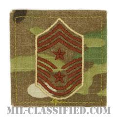 部隊先任最上級曹長(Command Chief Master Sergeant)[OCP/空軍階級章/ベルクロ付パッチ]の画像
