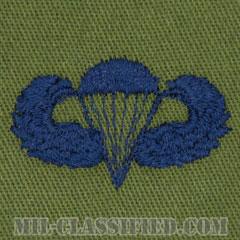 空挺章 (ベーシック)(Parachutist Badge, Basic)[サブデュード/ブルー刺繍/パッチ]の画像