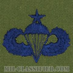 空挺章 (シニア)(Parachutist Badge, Senior, Senior)[サブデュード/ブルー刺繍/パッチ]の画像