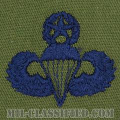 空挺章 (マスター)(Parachutist Badge, Master, Master)[サブデュード/ブルー刺繍/パッチ]の画像