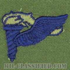 先導降下員章 (パスファインダー)(Pathfinder Badge)[サブデュード/ブルー刺繍/パッチ]の画像