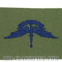 自由降下章 (ベーシック) (Military Freefall Parachutist Badge, HALO, Basic)[サブデュード/ブルー刺繍/パッチ]の画像