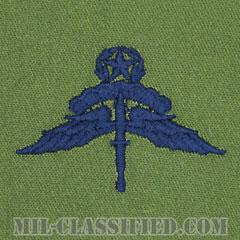 自由降下章 (マスター) (Military Freefall Parachutist Badge, HALO, Jumpmaster)[サブデュード/ブルー刺繍/パッチ]の画像