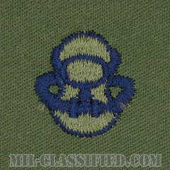 スキューバ員章(Diver Badge, Scuba)[サブデュード/ブルー刺繍/パッチ]の画像
