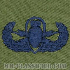 爆破物処理章 (ベーシック) (Explosive Ordnance Disposal (EOD), Badge, Basic)[サブデュード/ブルー刺繍/パッチ]の画像