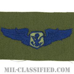 航空機搭乗員章 (将校用エアクルー)(Aircrew Officer Badge)[サブデュード/ブルー刺繍/パッチ]の画像