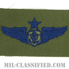 航空機搭乗員章 (将校用シニア・エアクルー)(Aircrew Officer Badge, Senior)[サブデュード/ブルー刺繍/パッチ]の画像