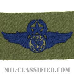 航空機搭乗員章 (下士官用マスター・エアクルー)(Aircrew Enlisted Badge, Master)[サブデュード/ブルー刺繍/パッチ]の画像