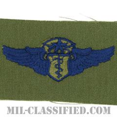 飛行医師章 (チーフ)(Flight Surgeon, Chief)[サブデュード/ブルー刺繍/パッチ]の画像