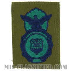 空軍警備隊章 (セキュリティーフォース・セキュリティーポリス)(Security Forces Badge, Security Police Badge)[サブデュード/ブルー刺繍/パッチ]の画像